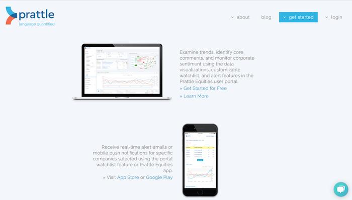 Prattle Homepage 1